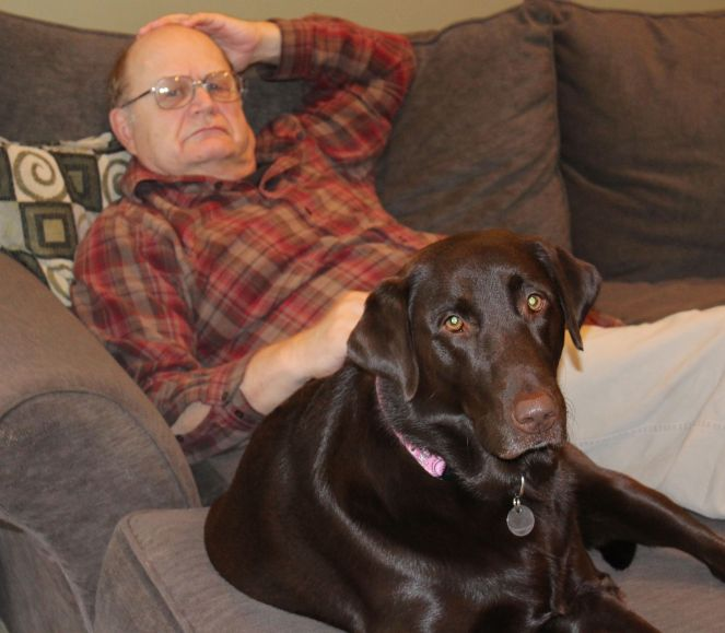 Grandpa and Maggie chilling out